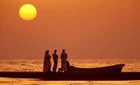 Arabian Sea at sunset